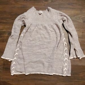 Knox Rose Chunky Gray Knit Sweater